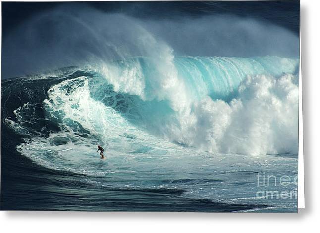 Surfing Photos Greeting Cards - Beauty Of Surfing Jaws Maui 3 Greeting Card by Bob Christopher