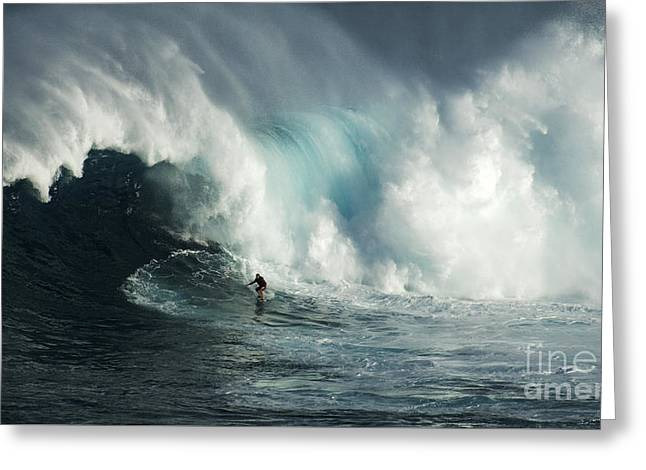 Big Surf Greeting Cards - Beauty Of Surfing Jaws Maui 7 Greeting Card by Bob Christopher