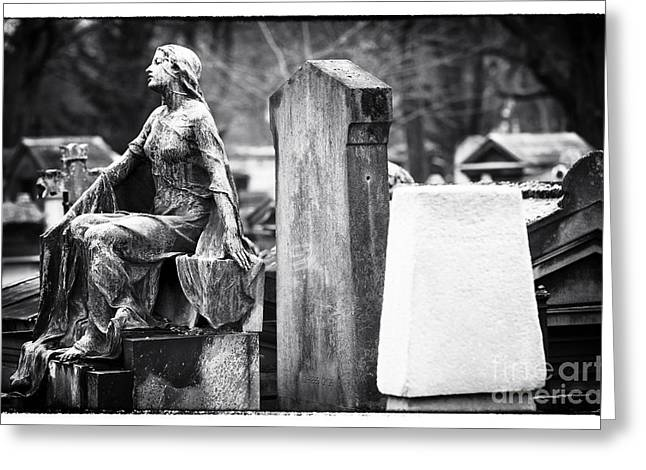Cemeteries Of Paris Greeting Cards - Beauty of the Cemetery Greeting Card by John Rizzuto