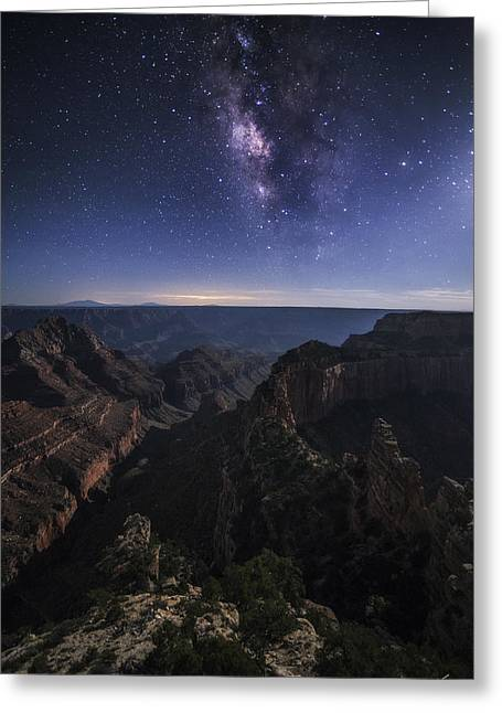 Moonlit Night Greeting Cards - Beauty of the Night Greeting Card by Peter Coskun