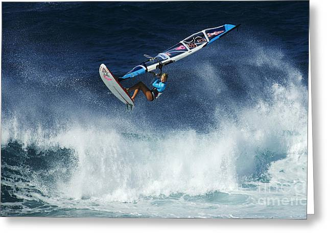 Surfing Photos Greeting Cards - Beauty Of Windsurfing Maui 1 Greeting Card by Bob Christopher