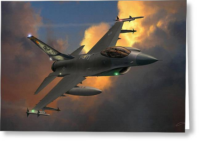 Military Airplane Greeting Cards - Beauty Pass Greeting Card by Dale Jackson