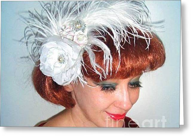 Cute Jewelry Greeting Cards - Beauty Queen Sofia Goldberg. Ameynra hair accessory for wedding  Greeting Card by Sofia Metal Queen