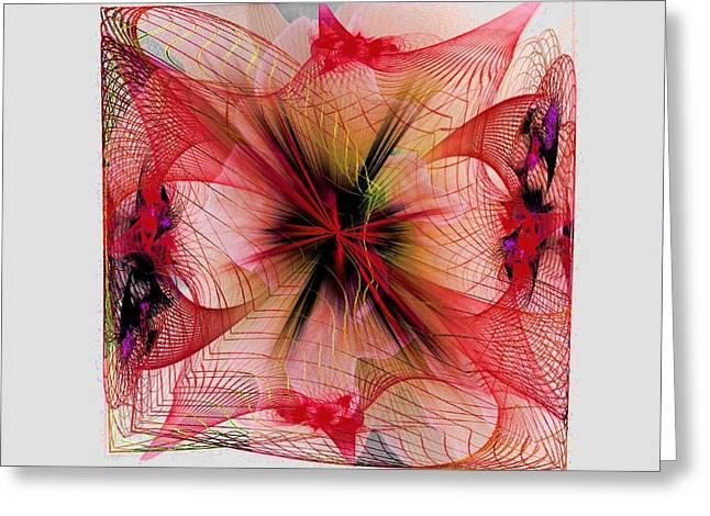 Fractal Greeting Cards Greeting Cards - Beauty Squared Greeting Card by Nancy Pauling