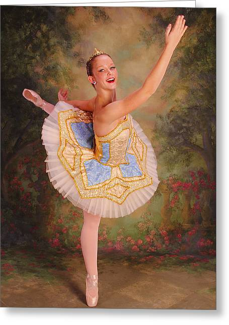 Beauty The Ballerina Greeting Card by ARTography by Pamela Smale Williams