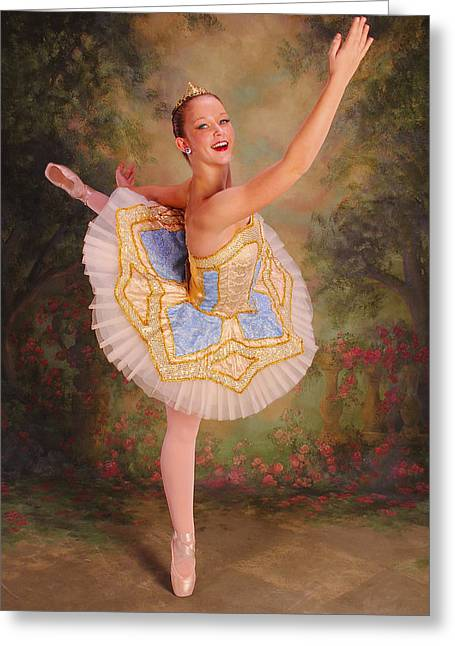 Beast Dancer Greeting Cards - Beauty The Ballerina Greeting Card by ARTography by Pamela  Smale Williams