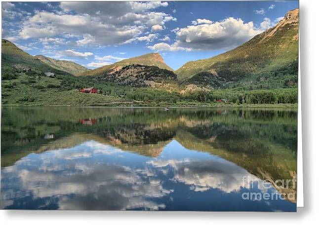 Beaver Lake In Marble Colorado Greeting Card by Adam Jewell
