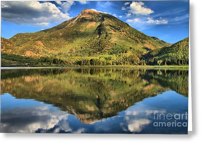 Beaver Lake Reflections Greeting Card by Adam Jewell