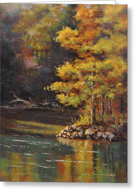 Eureka Springs Pastels Greeting Cards - Beaver Spring Greeting Card by Cristine Sundquist