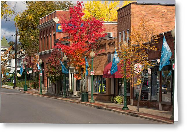 Sewickley . Greeting Cards - Beaver st  Sewickley Greeting Card by Emmanuel Panagiotakis