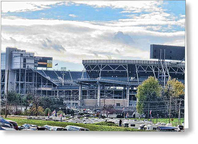 Beaver Stadium Game Day Greeting Card by Tom Gari Gallery-Three-Photography