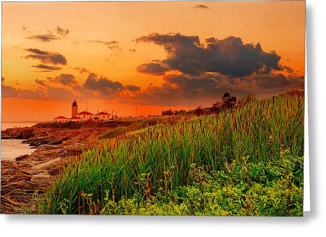 New England Landscape Greeting Cards - Beavertail Spectacular- Beavertail State Park Rhode Island Greeting Card by Lourry Legarde