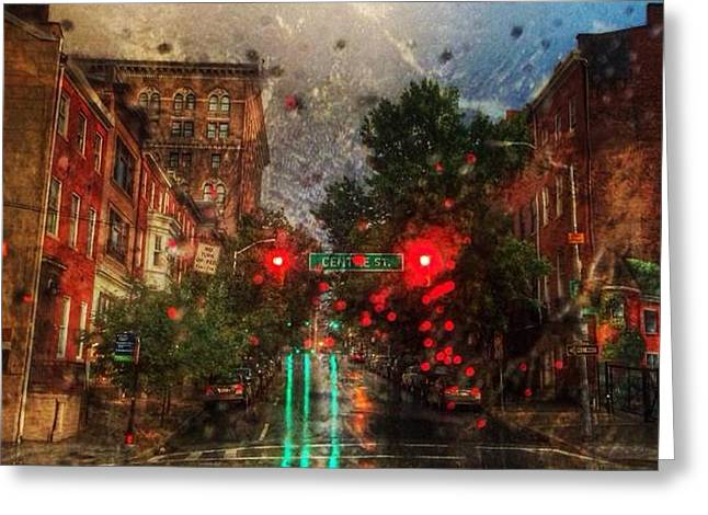 Toni Martsoukos Greeting Cards - Because of the rain Greeting Card by Toni Martsoukos