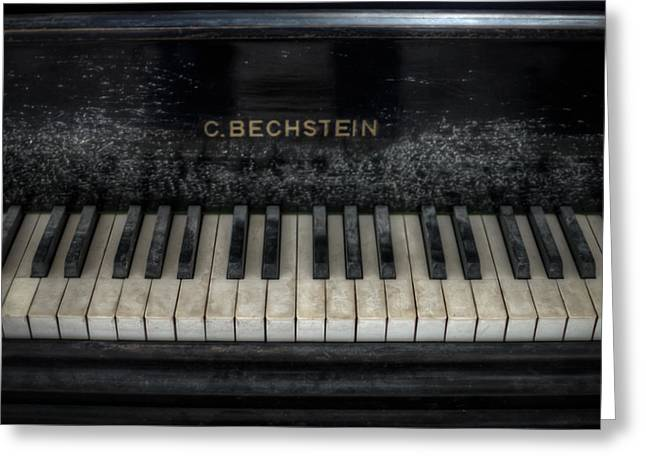 Creepy Digital Greeting Cards - Bechstein Keys Greeting Card by Nathan Wright