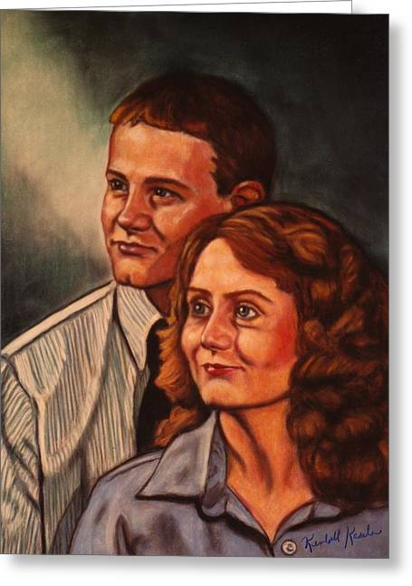 People Pastels Greeting Cards - Becky and Ron Yearout Greeting Card by Kendall Kessler