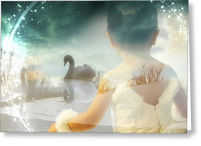 Becoming A Swan Greeting Card by Mo T