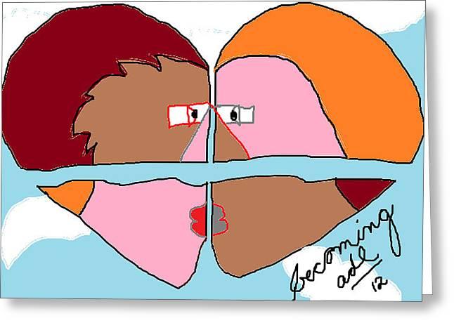 Becoming  Greeting Card by Anita Dale Livaditis