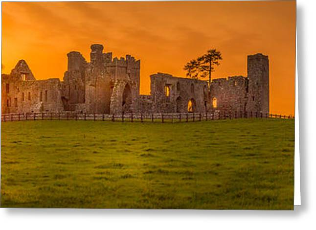 Movie Art Greeting Cards - Bective Abbey Sunset Greeting Card by John Hurley