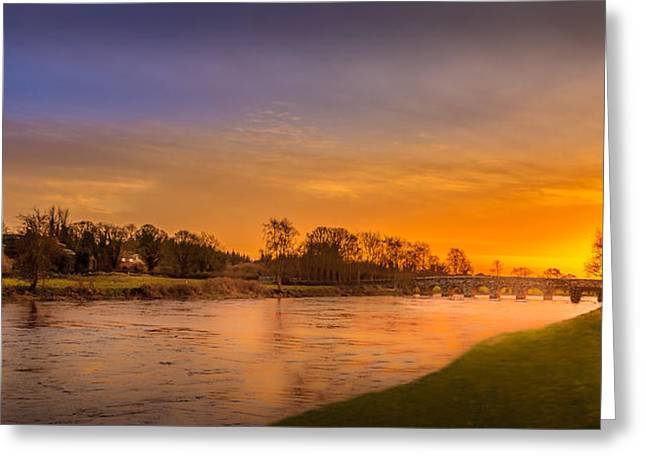 Sunset Prints Of Ireland Greeting Cards - Bective Bridge Greeting Card by John Hurley
