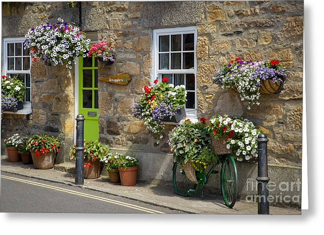 Houses Bed And Breakfast Greeting Cards - Bed and Breakfast - Cornwall Greeting Card by Brian Jannsen