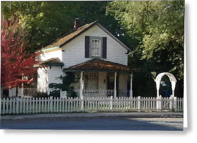 Historic Home Greeting Cards - Bed and Breakfast For Your Dreams Greeting Card by Mick Anderson