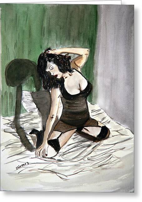 Bed Passion. Greeting Card by Shlomo Zangilevitch