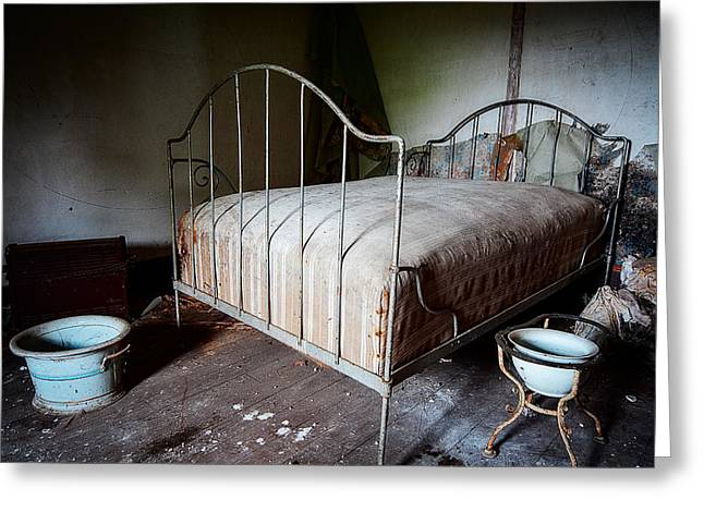 Decadence Greeting Cards - Bed Time Urban Exploration Greeting Card by Dirk Ercken