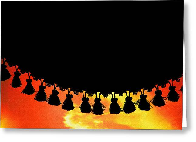 Ruffled Skirt Greeting Cards - Bedangled Greeting Card by Mike Flynn