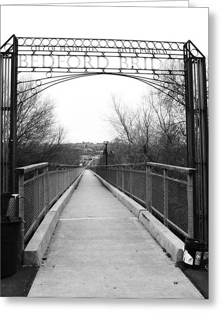 Bedford Hills Greeting Cards - Bedford Bridge Greeting Card by Angi Parks