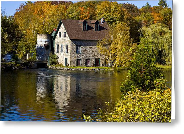Buttermilk Falls Greeting Cards - Bedford mill Ontario Greeting Card by Jim  Wallace