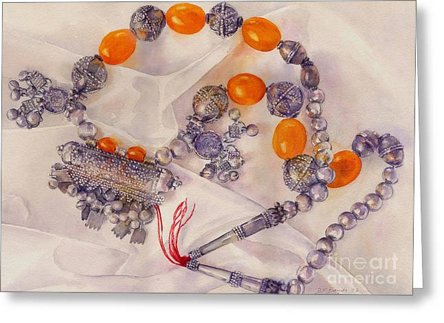 Jewellery Greeting Cards - Bedouin Jewels 1 Greeting Card by Dorothy Boyer