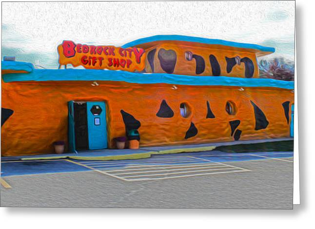 Bedrock City - Gift Shop Greeting Card by Gregory Dyer