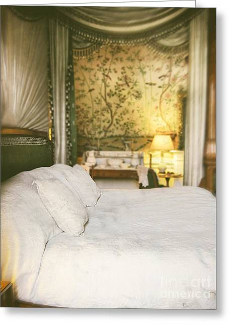 Bed Linens Greeting Cards - Bedroom Greeting Card by Amanda And Christopher Elwell