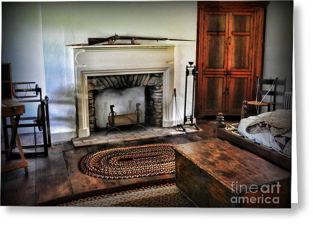 Bedroom - Colonial Style Greeting Card by Paul Ward