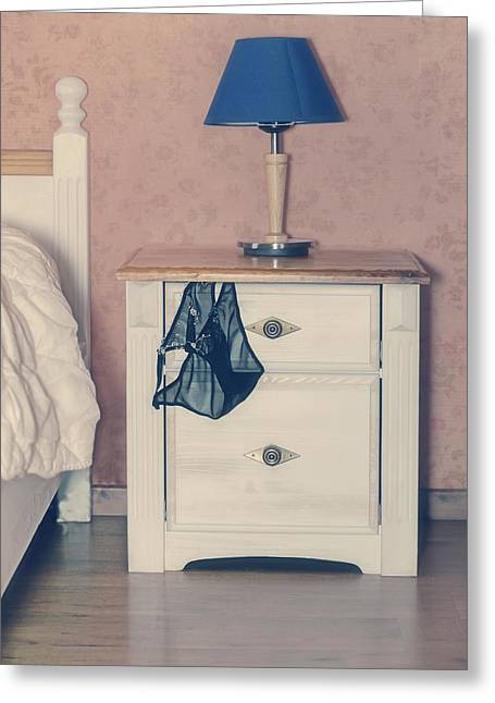 Cabinet Room Greeting Cards - Bedroom Greeting Card by Joana Kruse