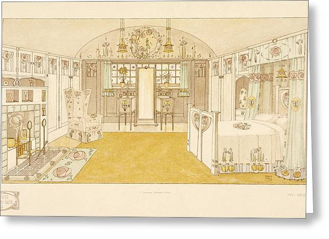 Domestic Greeting Cards - Bedroom, Logan George , Documents Greeting Card by George Logan