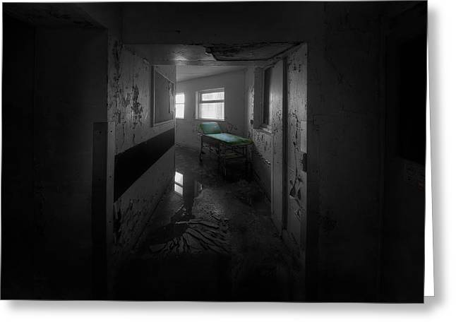 Left Alone Greeting Cards - Beds in the Corridor Greeting Card by Jason Green