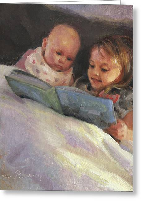 Story Books Greeting Cards - Bedtime Bible Stories Greeting Card by Anna Bain
