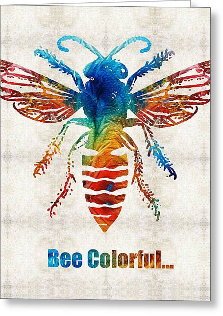 Bee Colorful - Art By Sharon Cummings Greeting Card by Sharon Cummings