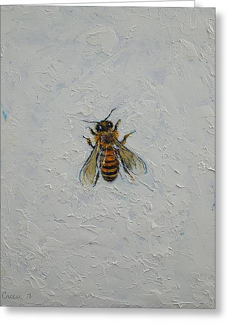 Bees Greeting Cards - Bee Greeting Card by Michael Creese