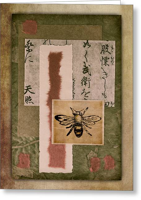 Honey Bee Greeting Cards - Bee Papers Greeting Card by Carol Leigh