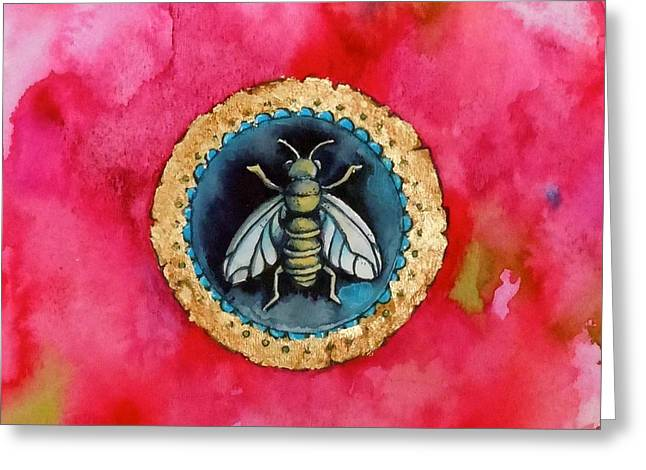 Bee Seal Greeting Card by Roleen  Senic