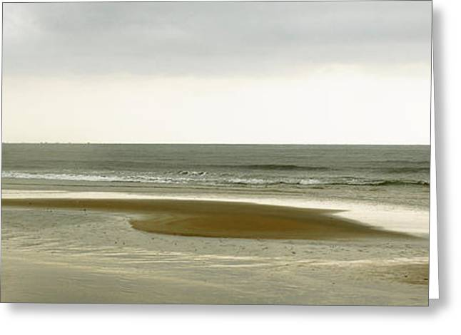 Best Sellers -  - Subtle Colors Greeting Cards - Beach Panorama in Goa Greeting Card by Kedar Munshi
