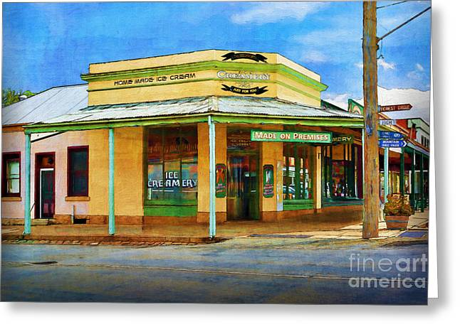 Historic Country Store Greeting Cards - Beechworth Ice Creamery Greeting Card by Stuart Row