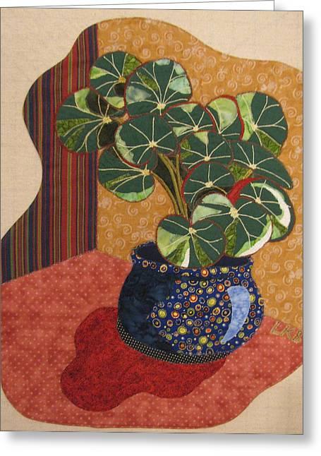 Still Life Tapestries Textiles Greeting Cards - Beefsteak Begonia Greeting Card by Lynda K Boardman