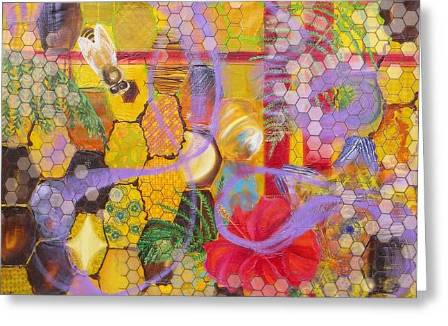 Anne Cameron Cutri Greeting Cards - Beehive Greeting Card by Anne Cameron Cutri