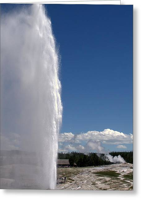 Old Faithful Geyser Greeting Cards - Beehive Geyser - Yellowstone National Park Greeting Card by Brian Harig