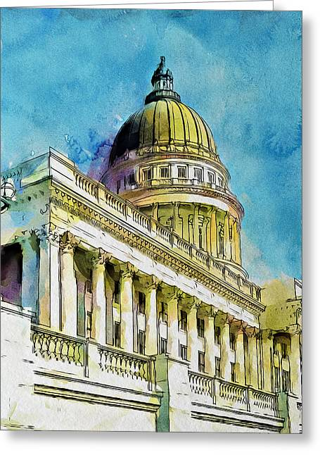Yellow Greeting Cards - Beehive State Dome Greeting Card by Greg Collins