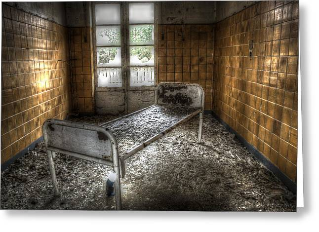 Empty Chairs Digital Greeting Cards - Beelitz bed Greeting Card by Nathan Wright