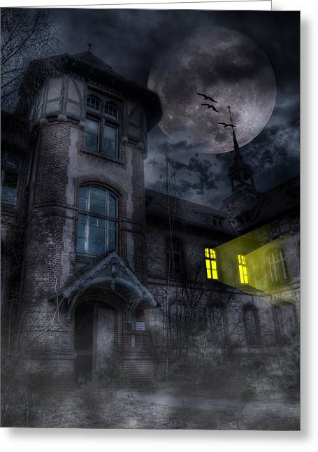 Ddr Greeting Cards - Beelitz horror nights Greeting Card by Nathan Wright